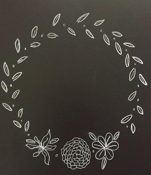 chalkleaveslargeflowerswreath