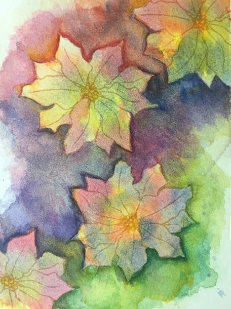 negative painting flower