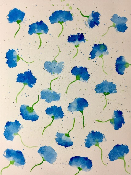 watercolor cornflower