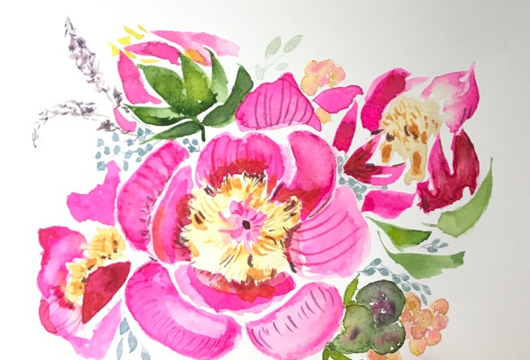 peonies - leaves and filler