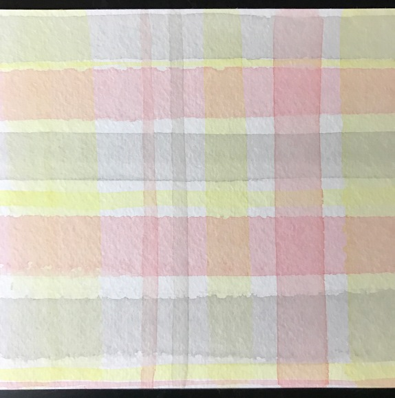 watercolor plaid!